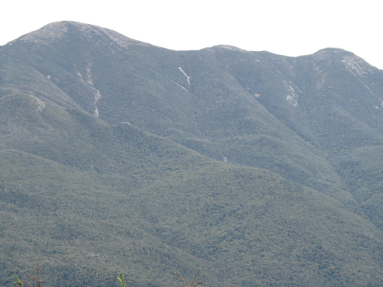 Looking across the valley and you can see little ants on the summit.