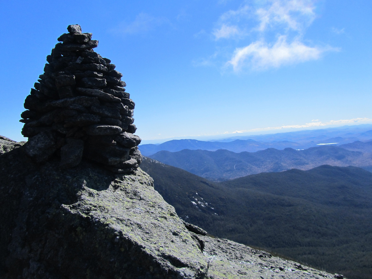 Someone spent a lot of time building this cairn.