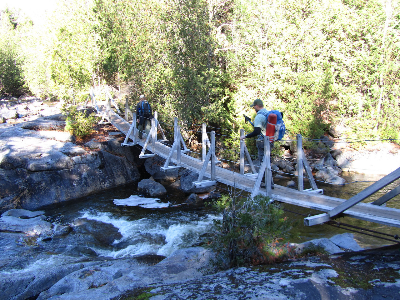 The first bridge of the trip. A nice looking one traversing a beautiful trout stream.
