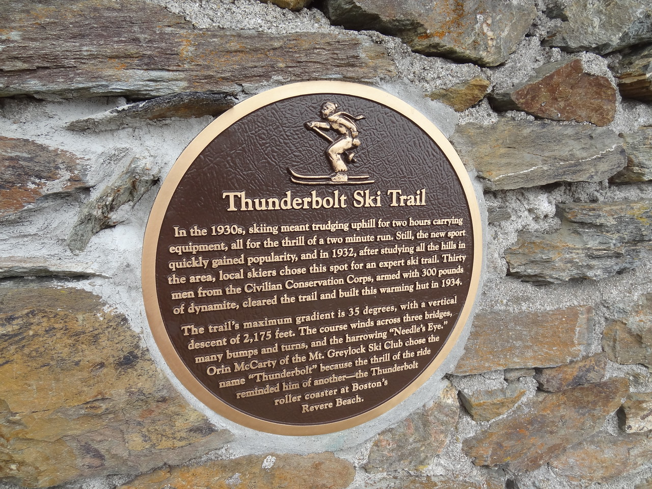 One of two plaques on the shelter.