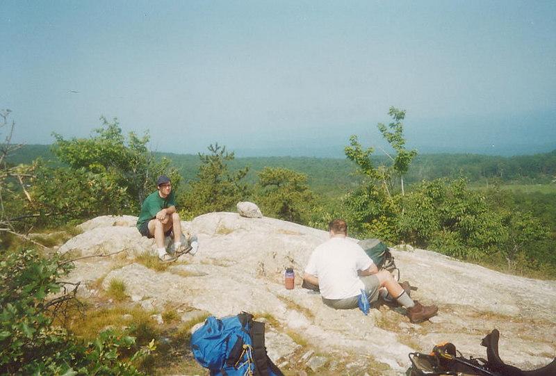 Baking on the summit of Rattlesnake Mountain