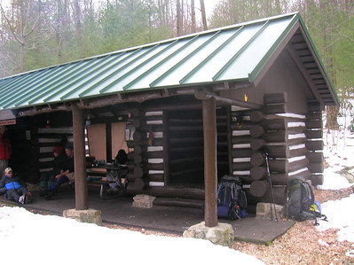 The Quarry Gap Shelter - well worth the 20.6-mile hike on Wednesday