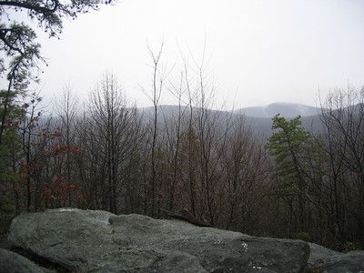 The view from Middle Point Knob, just south of Boiling Springs
