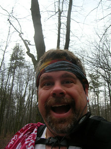 Self-portrait (obviously deranged from hiking too many miles!)