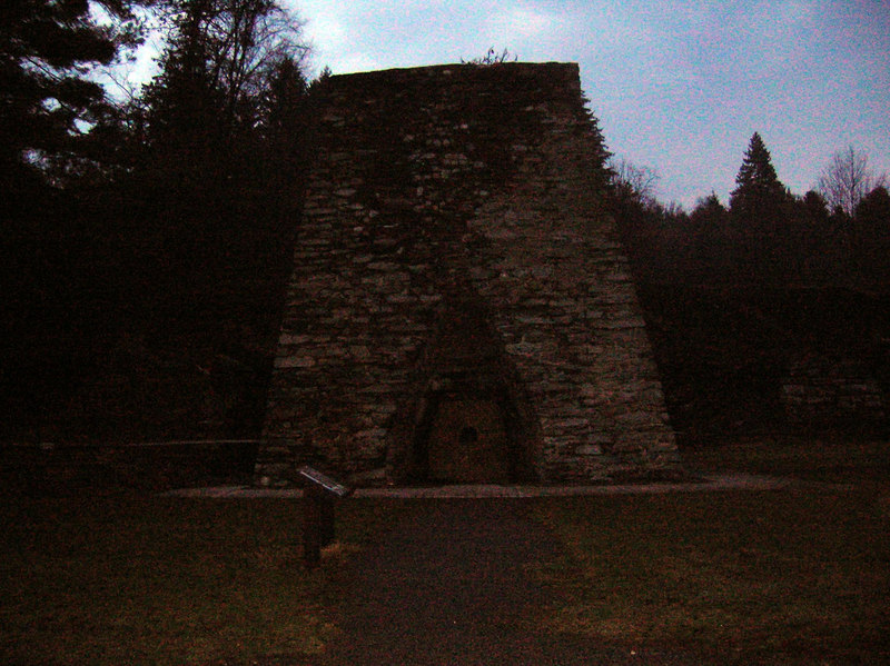 The charcoal furnace at the Pine Grove Furnace State Park - early Friday morning.