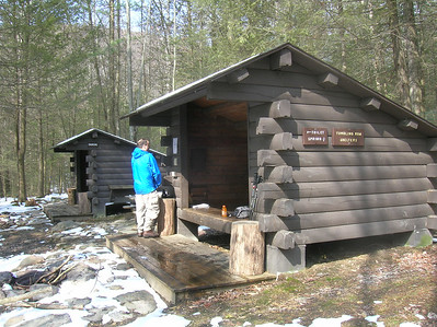 Lunch break at the Tumbling Run Shelter - mile 8.3 on Wednesday