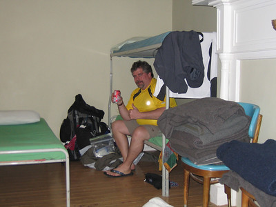 Lounging in the Ironmasters Mansion Hostel dormitory