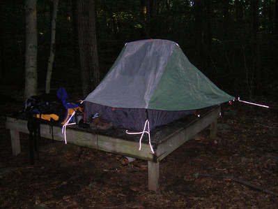 The Stalking Tortoise 2-man tent at the Upper Goose Pond camping area