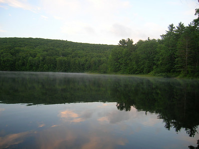 Early morning mist on the Upper Goose Pond
