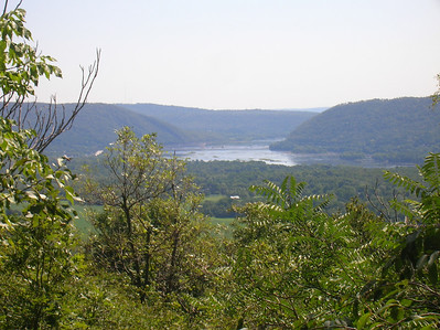 Looking south towards the town of Dauphin, PA