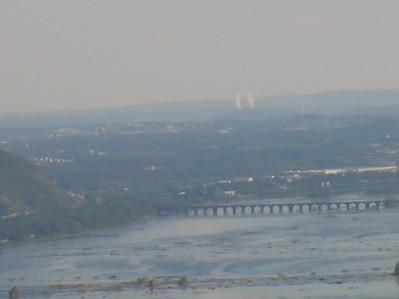 The Susquehanna River, the Rockville Bridge and TMI