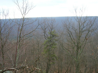 Looking over at Stony Mountain from Peters Mountain
