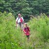 Adam and Tim crossing the powerline north of Dalton Mass.