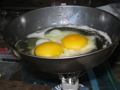 Now the eggs...