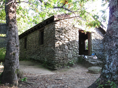 The Blood Mountain Shelter, built by the Civilian Conservation Corps in the 1930's.
