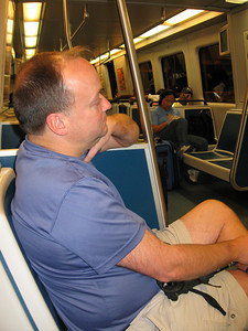 Getting to Springer - planes, trains and automobiles.  Tim zones out on the MARTA ride to the North Springs Station.