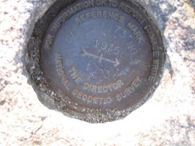 USGS marker on Blood Mountain.