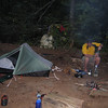 Our campsite along Justus Creek - filtering water after a tough 13.6 miles.