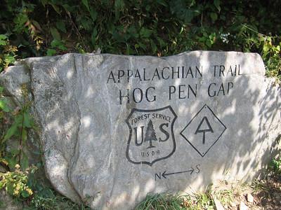 Hog Pen Gap - just another descent followed by an ascent.
