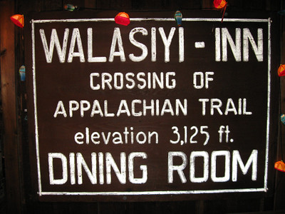 Walasi-Yi = Frogtown.  Based on this sign in the hostel, it looks like the building was originally a restaurant.