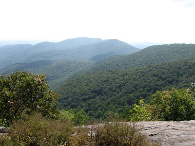 The view west from Blood Mountain