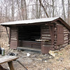 A quiet & peaceful lunch break at the Bake Oven Knob Shelter.  At least until the advance group of scouts arrived...