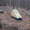 Smoking Sox's tent just north of the Outerbridge Shelter.