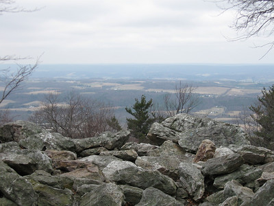 The view north from Bake Oven Knob