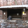 The Leroy A. Smith Shelter - a great place to spend the night.  Especially during a thunderstorm with hail.