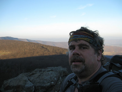 Self-portrait on North Marshall early on Monday morning.