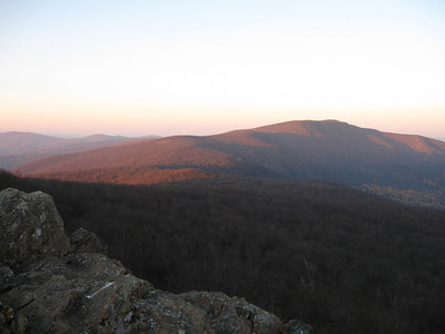 Views southward from South Marshall Mountain.