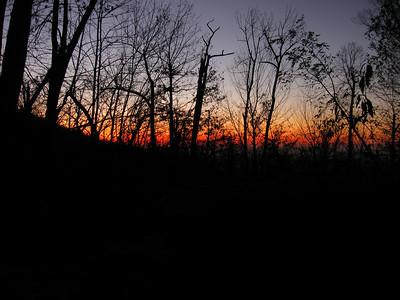 Sunrise from the Gravel Springs Hut.