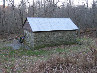 The Bearfence Mountain Hut - home for the first night.