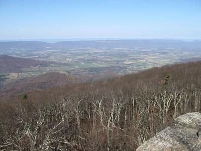 Looking westward at the Shenandoah valley.