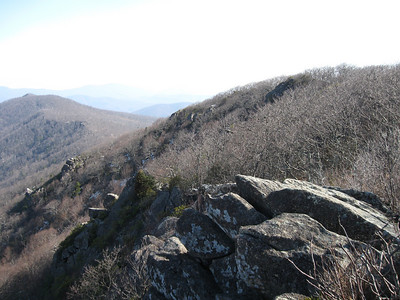 Getting closer to Mary's Rock (upper left).