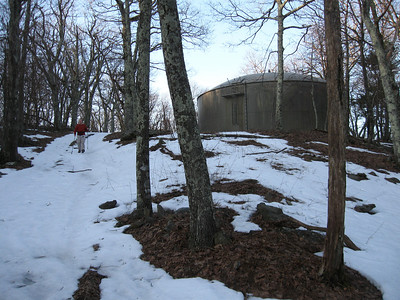 Starting off the first part of the hike at the Skyland Resort water tank.