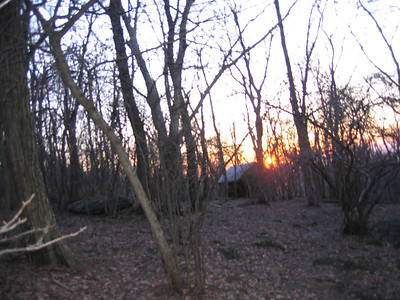 Calf Mountain Shelter: Made it to the shelter just as the sun was setting
