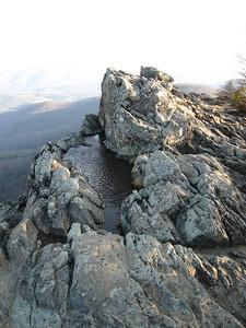 Rocks and ripples on Little Stony Man.