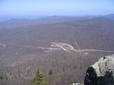 View from Mary's Rock down toward 211 and Skyline Drive