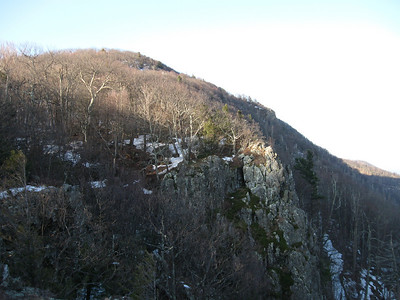 Looking back at the summit of Stony Man Mountain.