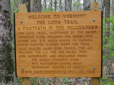 The Long Trail pre-dates the Appalachian Trail and gets top billing for the 105 miles that they share.