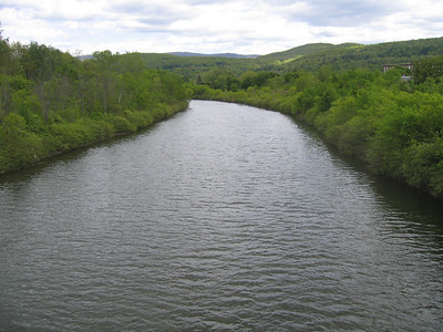 The Hoosic River in North Adams, MA