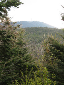 First view of the Mount Greylock summit and the Bascom Lodge.