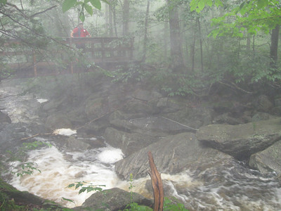 Smoking Sox and the Hell Hollow Brook in 100% humidity.