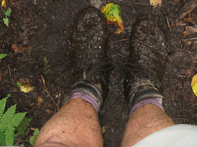 VerMUD up to the top of my boots - I'm glad I wasn't wearing sandals or trail runners.