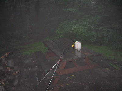 A soggy evening at the Melville Nauheim Shelter
