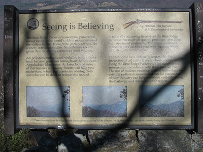 Sign at the BRP overlook.