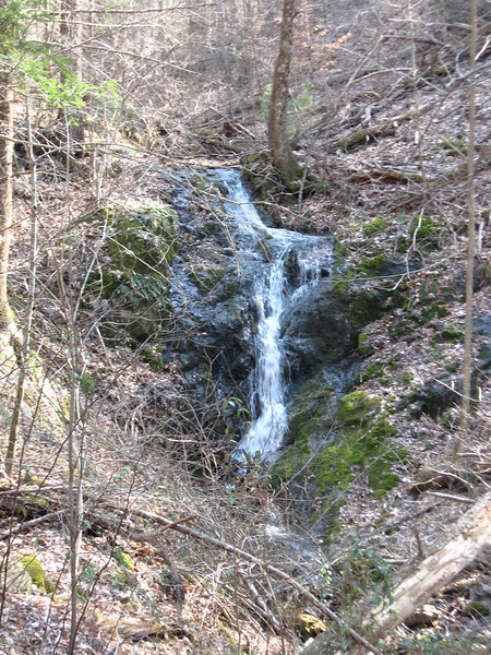 Waterfall near Bryant Ridge Shelter.