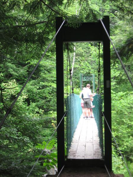 Clarendon Gorge suspension bridge.