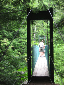 Clarendon Gorge suspension bridge.